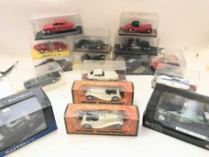 A Collection of die cast Jaguar cars all boxed, in