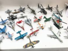 A Collection of die cast aircraft including a matc