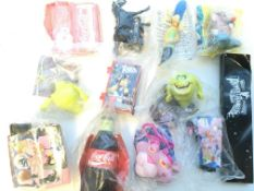 A Large collection of Burger King toys including C