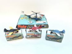 A Dinky Sea King Helicopter #724 (plastic cover mi