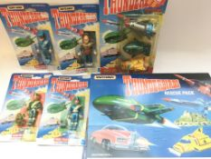 A collection of Carded Thunderbirds Matchbox figur