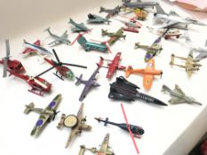 A Collection of die cast aircraft including matchb