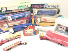 A collection of Lorry's including a boxed Corgi Vo