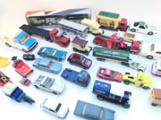 A Collection of Playworn Matchbox, Dinky toys and