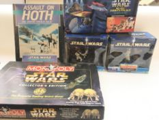A box containing Star Wars items including Assault