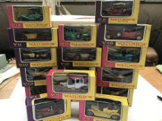 "A collection of Matchbox cars ""models of yesteryea"