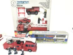 A Remco Real Steel Fire Dept. Set a M1 racers set