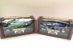 2 x Scalextric cars a Aston Martin DBR 1/300 #C289