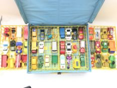 A Matchbox Collectors carry case including cars.