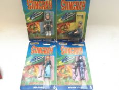 4 carded Matchbox Stingray figures, including Troy
