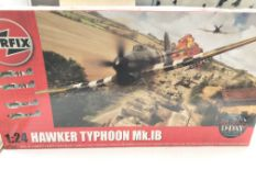A Airfix model Hawker Typhoon m.k.1B scale 1:24 co
