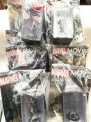 A Collection of Marvel Movie collection magazines