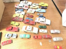 A Collection of play worn Jaguar cars including Sp