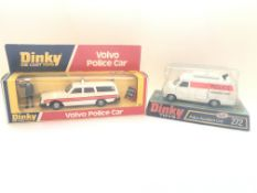 A Dinky Volvo Police Car boxed #243 and a Police A