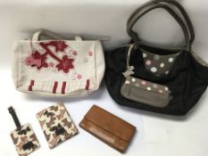 A collection of designer handbags, and Radley item