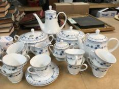A Noritake tea service including tureens, tea pot,