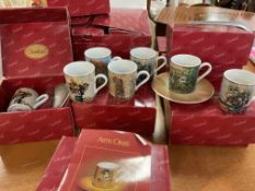 12 Goebel Artis Orbis coffe cans and saucers.