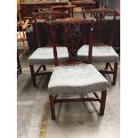 Three George III design mahogany dining chairs (3)