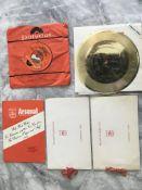 Arsenal Football Memorabilia Box: Seven inch recor