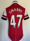 2012/2013 Gnabry Arsenal Match Issued Football Shi