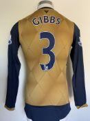 2015/2016 Gibbs Arsenal Match Worn Football Shirt:
