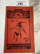 31/32 Arsenal v Newcastle Football Programme: Good