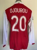 2006/2007 Djourou Arsenal Match Worn Football Shir