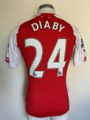 2014/2015 Diaby Arsenal Match Issued Football Shir