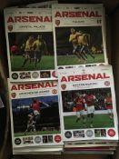 Arsenal Home Football Programmes: Large quantity o