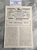 1925/26 Arsenal v Tottenham London Combination Foo