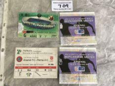 Arsenal European Final Football Tickets: 1994 Parm