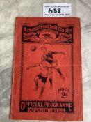 64/65 Arsenal v Tottenham FA Youth Cup Football Pr