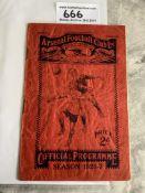 26/27 Arsenal v Wolves Football Programme: Fair co