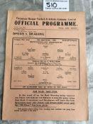 1940/41 Tottenham v Arsenal Football Programme: Wa