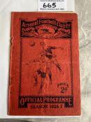 26/27 Arsenal v Liverpool FA Cup Football Programm