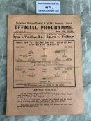 1939/40 Tottenham v Arsenal Football Programme: Le