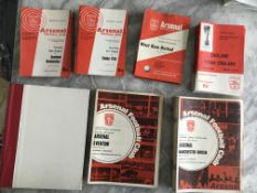 Arsenal Home Football Programmes: From 64/65 to 70