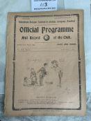 1920/1921 Tottenham Reserves v Arsenal Football Pr