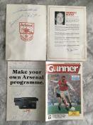 Arsenal Signed Football Programmes: 1988 programme