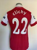 2010/2011 Clichy Arsenal Match Worn Football Shirt