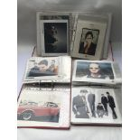 Three binders of music publicity prints, various a