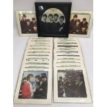 A collection of Beatles 7inch single reissues and