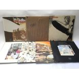 Seven Led Zeppelin LPs including 'In Through The O