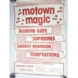 A circa 1970s reproduction Motown Magic concert po