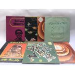 Seven Stevie Wonder LPs comprising 'Where'm Coming