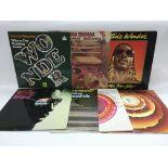 Seven Stevie Wonder LPs comprising 'Where I'm Comi