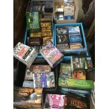Four boxes of CDs and DVDs comprising mainly box s