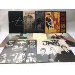 Ten heavy rock, prog and punk rock LPs by various