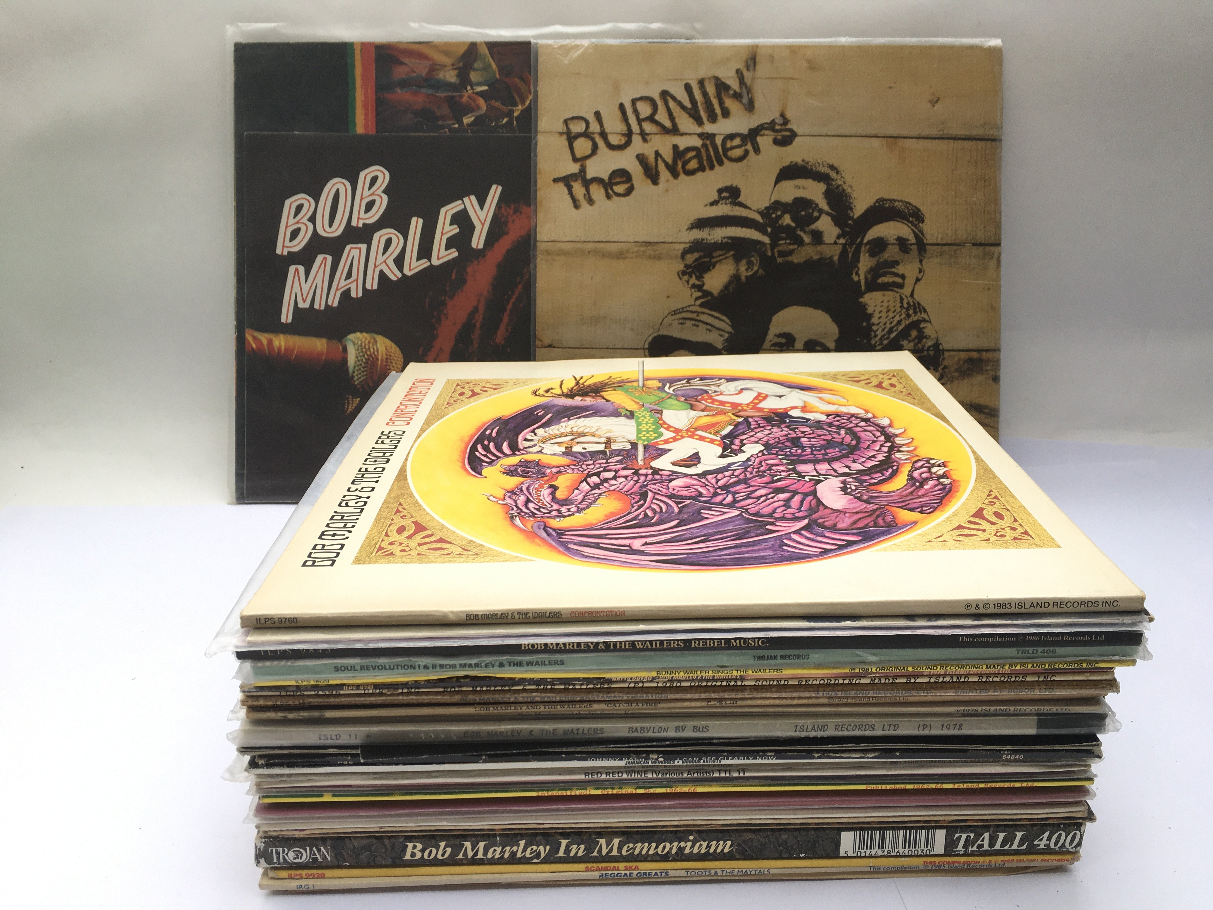 A collection of reggae LPs and 12inch singles by v