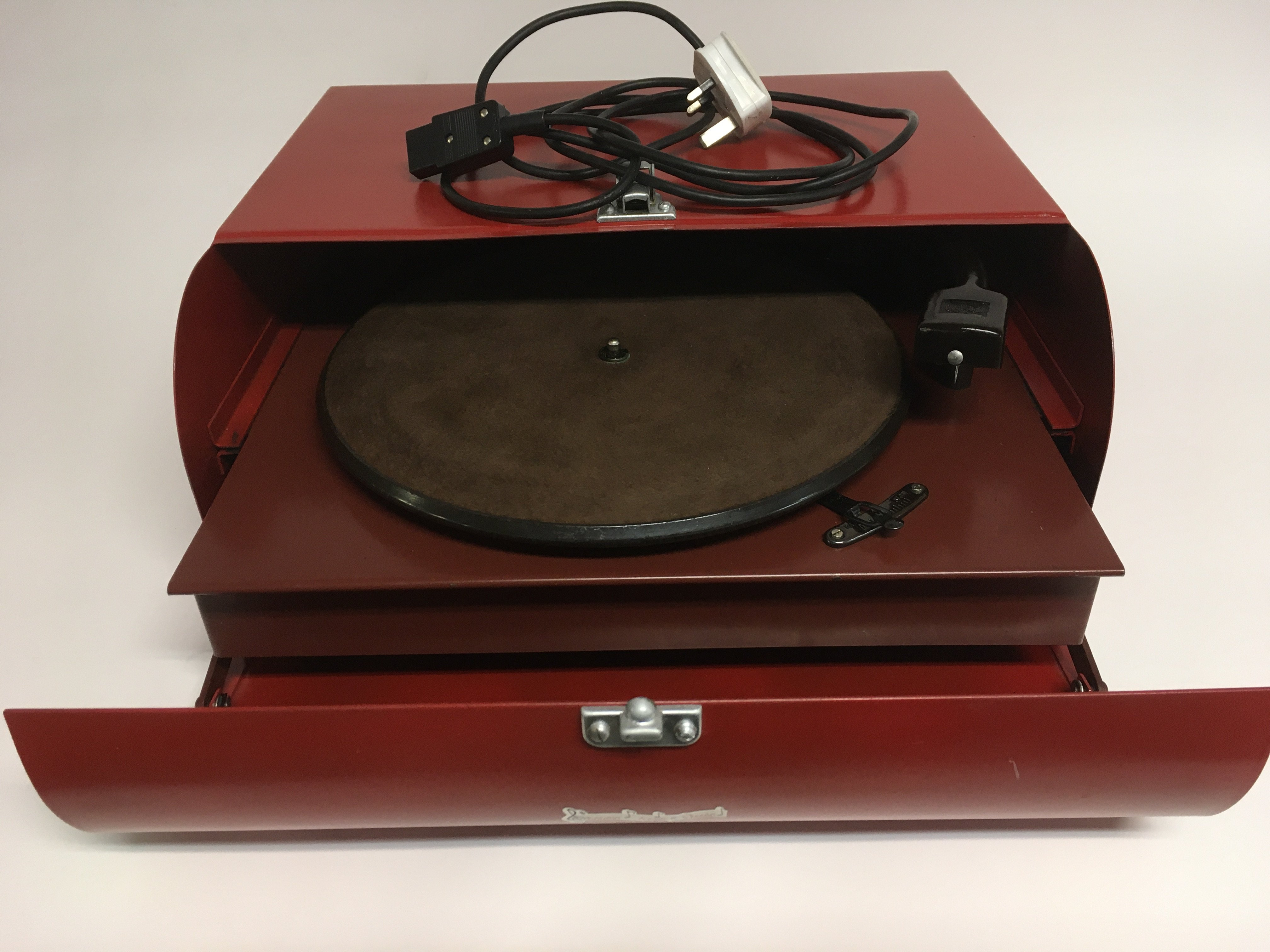An unusual vintage toolbox shaped Collero record p